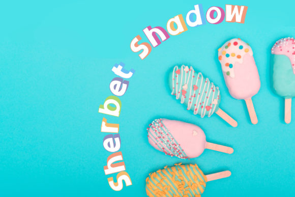 Print on Demand: Sherbet Shadow Duo Display Font By Illustration Ink