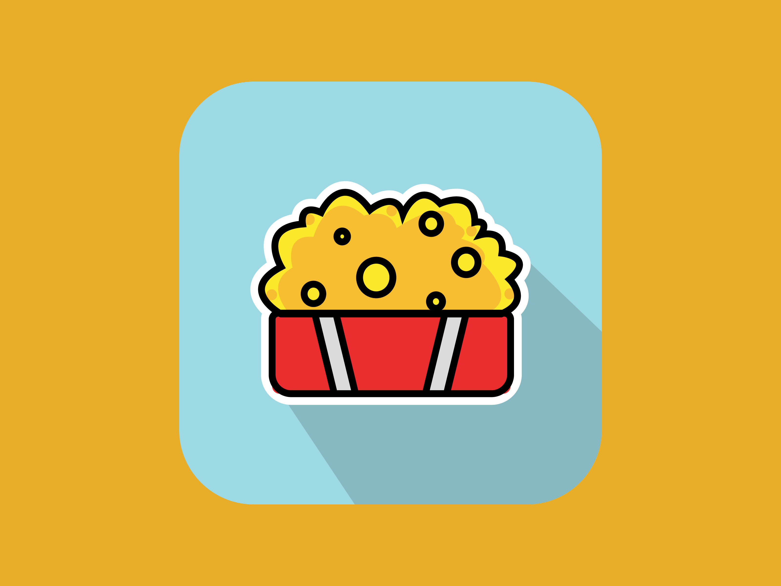Download Free Small Popcorn Icon Modern Line Graphic By Meandmydate Creative for Cricut Explore, Silhouette and other cutting machines.