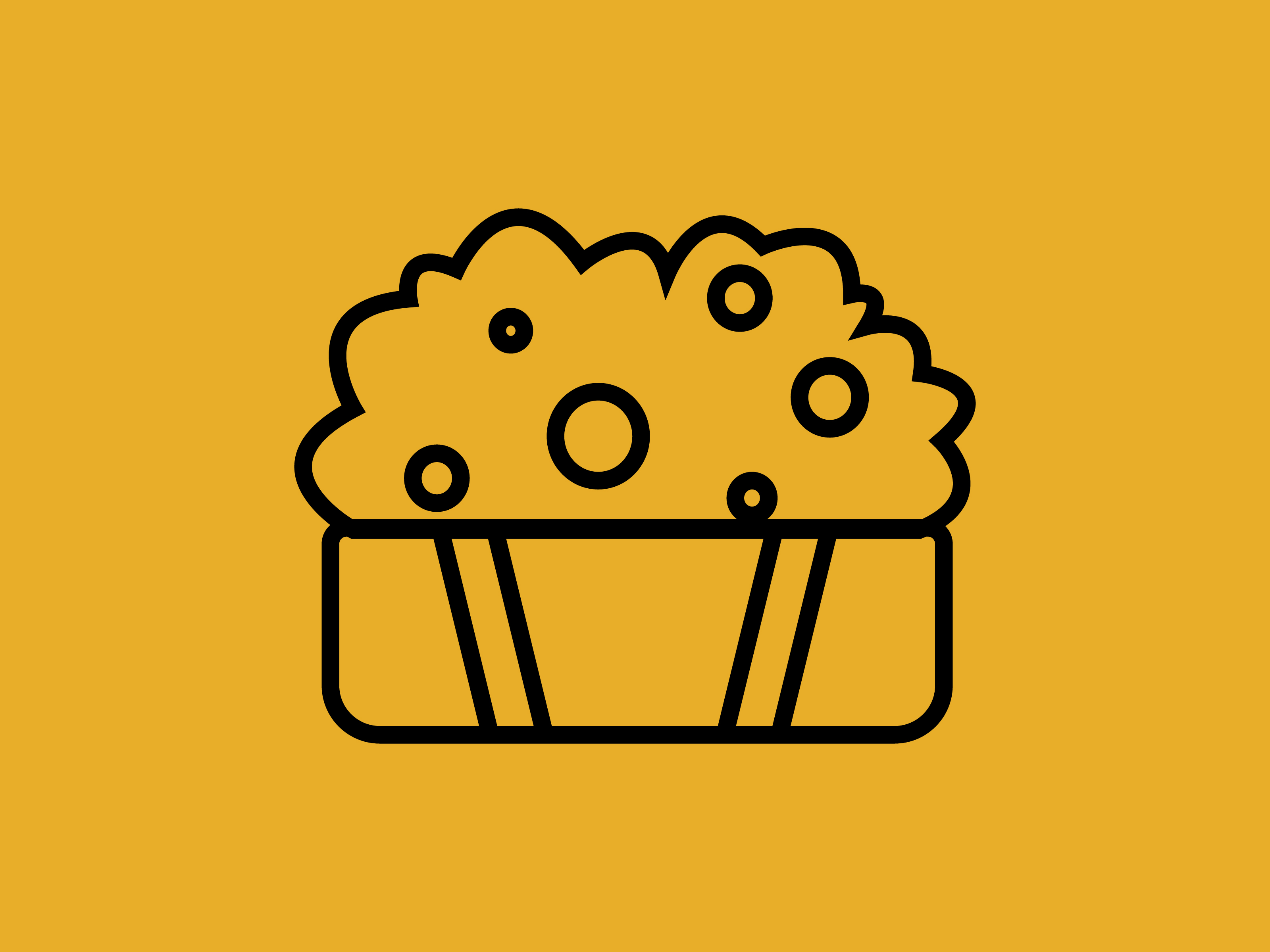 Download Free Small Popcorn Icon Only Outline Graphic By Meandmydate for Cricut Explore, Silhouette and other cutting machines.