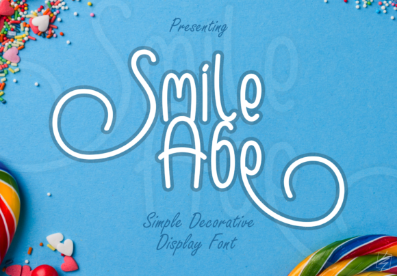 Print on Demand: Smile Abe Display Font By wallby.hand