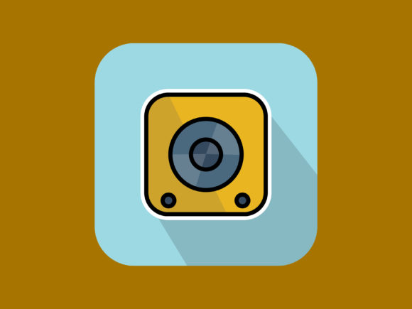 Download Free Sound Speaker Icon Modern Outline Graphic By Meandmydate for Cricut Explore, Silhouette and other cutting machines.