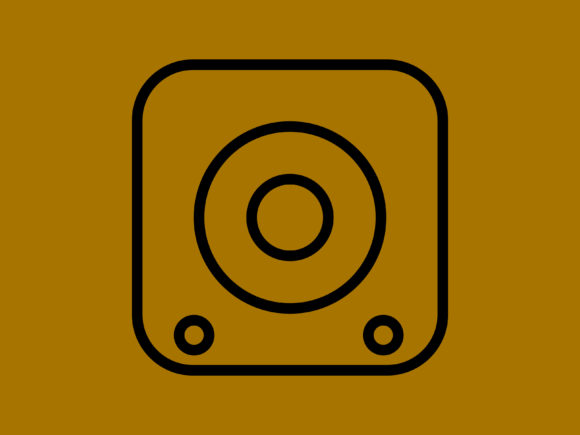 Download Free Sound Speaker Small Only Outline Icon Graphic By Meandmydate for Cricut Explore, Silhouette and other cutting machines.
