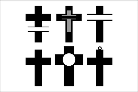 Download Free Split Cross Cut Files Graphic By Bn3300877 Creative Fabrica for Cricut Explore, Silhouette and other cutting machines.