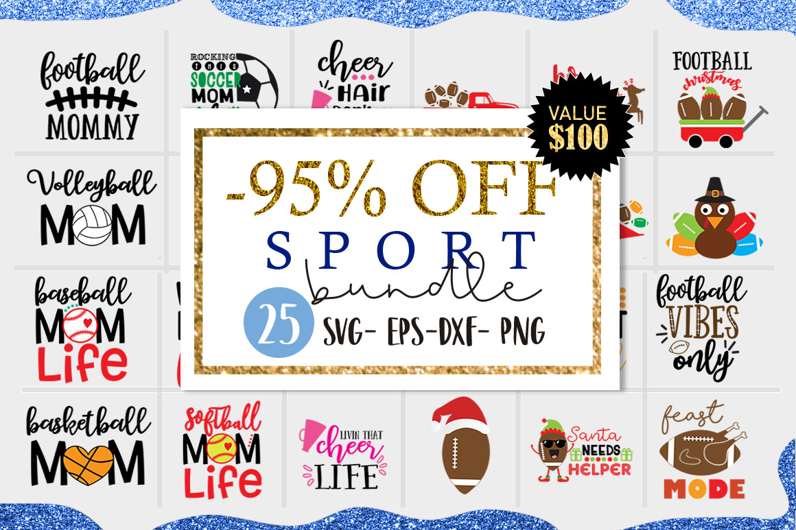 Download Free Sport Bundle Cut Files For Crafter Graphic By Cute Files for Cricut Explore, Silhouette and other cutting machines.