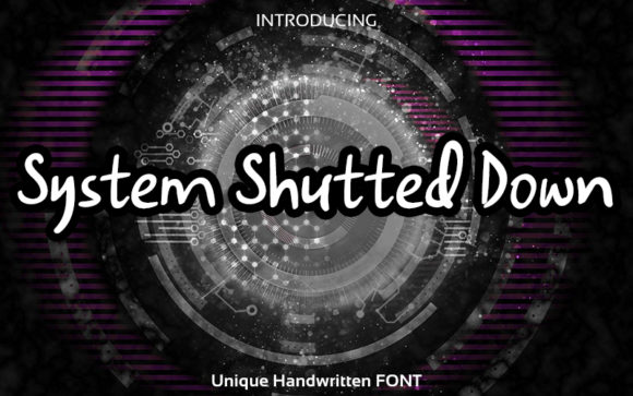 System Shutted Down Font Free Download