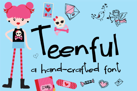 Print on Demand: Teenful Script & Handwritten Font By Illustration Ink