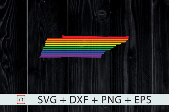 Download Free Tennessee State Map Rainbow Lgbt Pride Graphic By Novalia for Cricut Explore, Silhouette and other cutting machines.