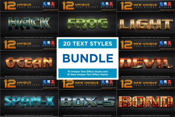 Text Effect Styles Bundle  By MualanaDesign