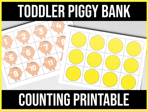Download Free Toddler Piggy Bank Counting Graphic By Ascendprints Creative SVG Cut Files