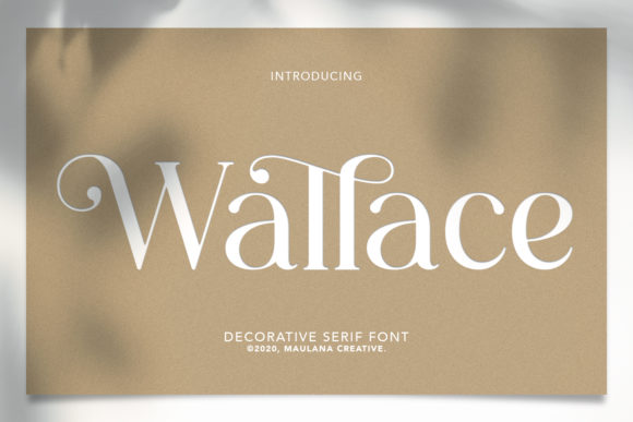 Print on Demand: Wallace Display Font By Maulana Creative