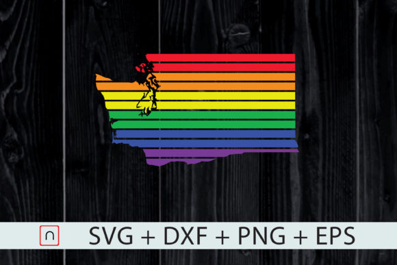 Download Free Washington State Map Rainbow Lgbt Pride Graphic By Novalia for Cricut Explore, Silhouette and other cutting machines.