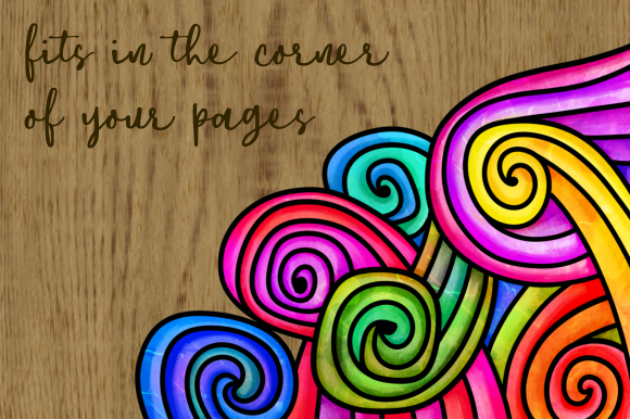 Print on Demand: Watercolor Folk Art Doodle Borders Set 2 Graphic Backgrounds By Prawny - Image 3