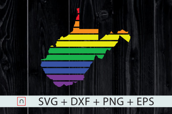 Download Free West Virginia State Map Rainbow Lgbt Graphic By Novalia for Cricut Explore, Silhouette and other cutting machines.