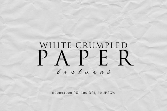 Print on Demand: White Crumpled Paper Textures Graphic Abstract By ArtistMef