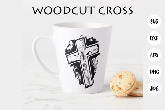 Download Free Woodcut Calvary Cross Religious Symbol Graphic By Prawny for Cricut Explore, Silhouette and other cutting machines.