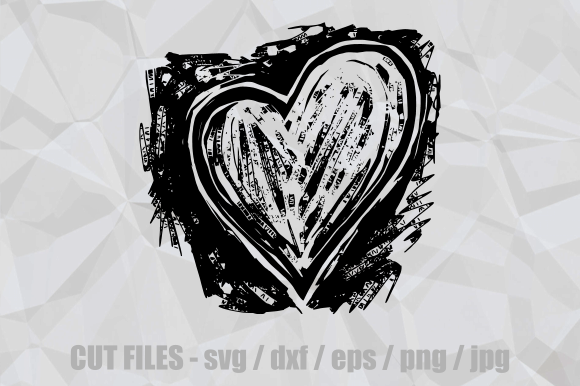 Download Free Woodcut Love Heart Cut File Clipart Graphic By Prawny Creative for Cricut Explore, Silhouette and other cutting machines.