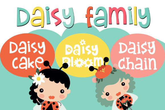 Print on Demand: ZP Daisy Family Script & Handwritten Font By Illustration Ink
