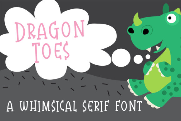 Print on Demand: ZP Dragon Toes Serif Font By Illustration Ink