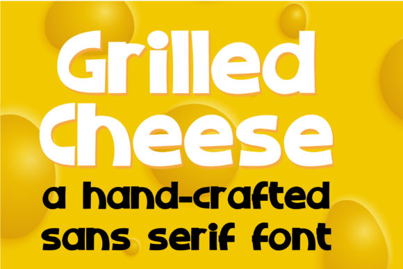 Print on Demand: ZP Grilled Cheese Display Font By Illustration Ink