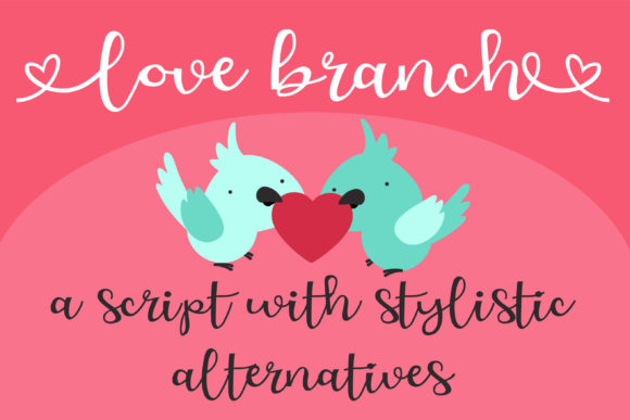 Download Free Zp Love Branch Font By Illustration Ink Creative Fabrica for Cricut Explore, Silhouette and other cutting machines.