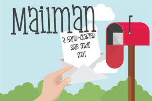 Download Free Zp Mailman Font By Illustration Ink Creative Fabrica for Cricut Explore, Silhouette and other cutting machines.