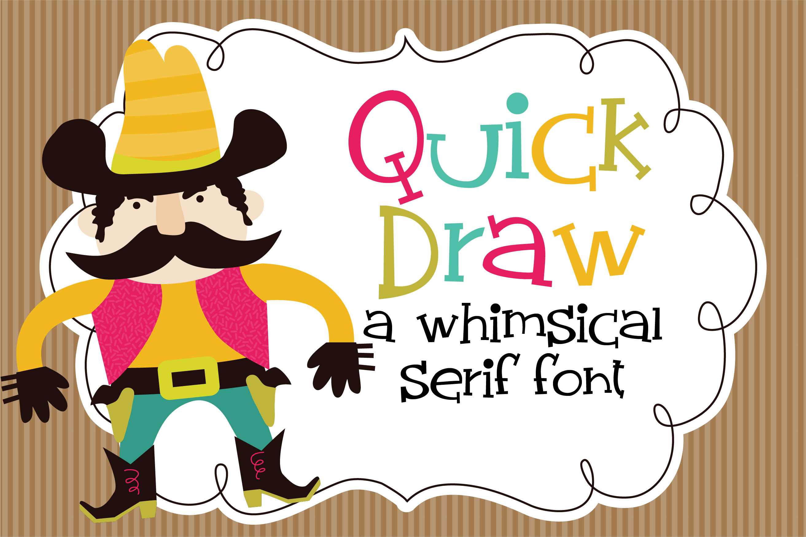 Download Free Zp Quick Draw Font By Illustration Ink Creative Fabrica for Cricut Explore, Silhouette and other cutting machines.
