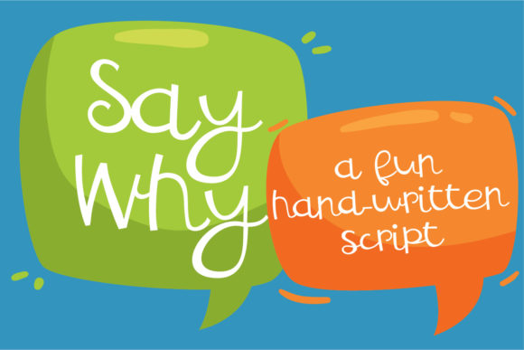 Print on Demand: ZP Say Why Script & Handwritten Font By Illustration Ink
