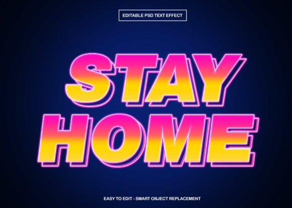 Download Free Insta Stay At Home Text Effect Graphic By Knou Creative Fabrica for Cricut Explore, Silhouette and other cutting machines.