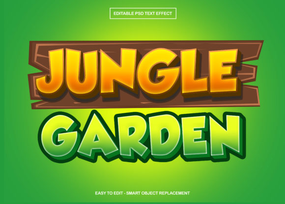 Download Free Jungle Garden Text Effect Graphic By Knou Creative Fabrica for Cricut Explore, Silhouette and other cutting machines.