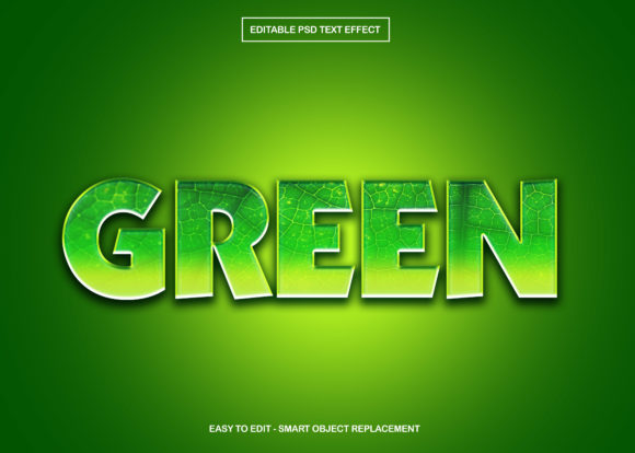 Download Free Leaf Green Texture Text Effect Graphic By Knou Creative Fabrica for Cricut Explore, Silhouette and other cutting machines.