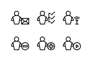 User Black and White Line Icon Graphic Icons By glyph.faisalovers