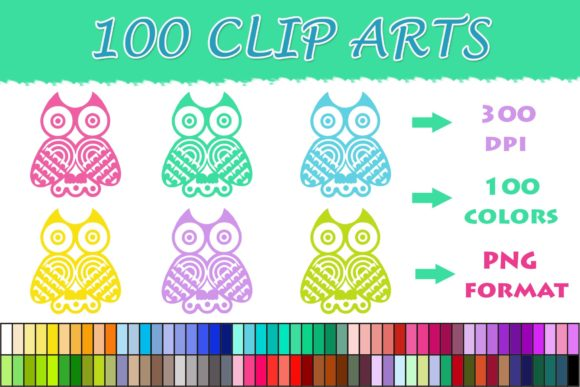 Download Free 100 Owl Clip Art Graphic By Sweetdesign Creative Fabrica for Cricut Explore, Silhouette and other cutting machines.