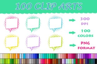 100 Speech Bubble Clip Art Graphic Illustrations By SweetDesign