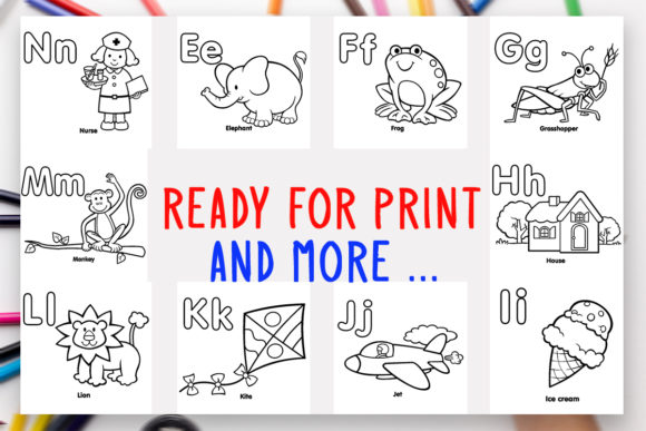 - 26 Alphabet Coloring Book A-Z For Kids (Graphic) By DesignsBundles ·  Creative Fabrica