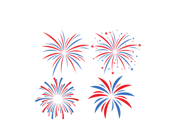 4th of July Fireworks Graphic Crafts By SVGPlaceDesign