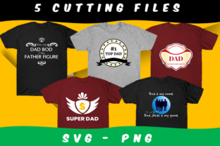 Print on Demand: 5 Father's Day Graphic Bundle Gráfico Crafts Por icutletterstudio