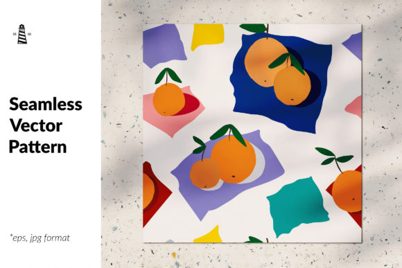 Download Free Abstract Oranges Seamless Pattern Graphic By Northseastudio for Cricut Explore, Silhouette and other cutting machines.