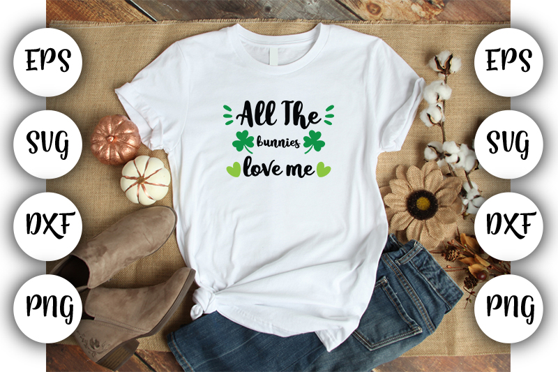 Download Free All The Bunnies Love Me Graphic By Design Store Creative Fabrica for Cricut Explore, Silhouette and other cutting machines.