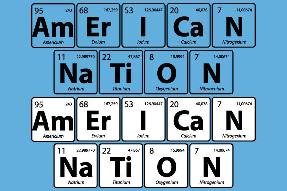 Download Free American Nation Periodic Table Vector Graphic By Graphicsfarm for Cricut Explore, Silhouette and other cutting machines.