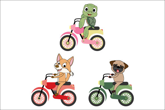 Download Free Animal Illustration Design Of Riding A Motorcycle Graphic By for Cricut Explore, Silhouette and other cutting machines.