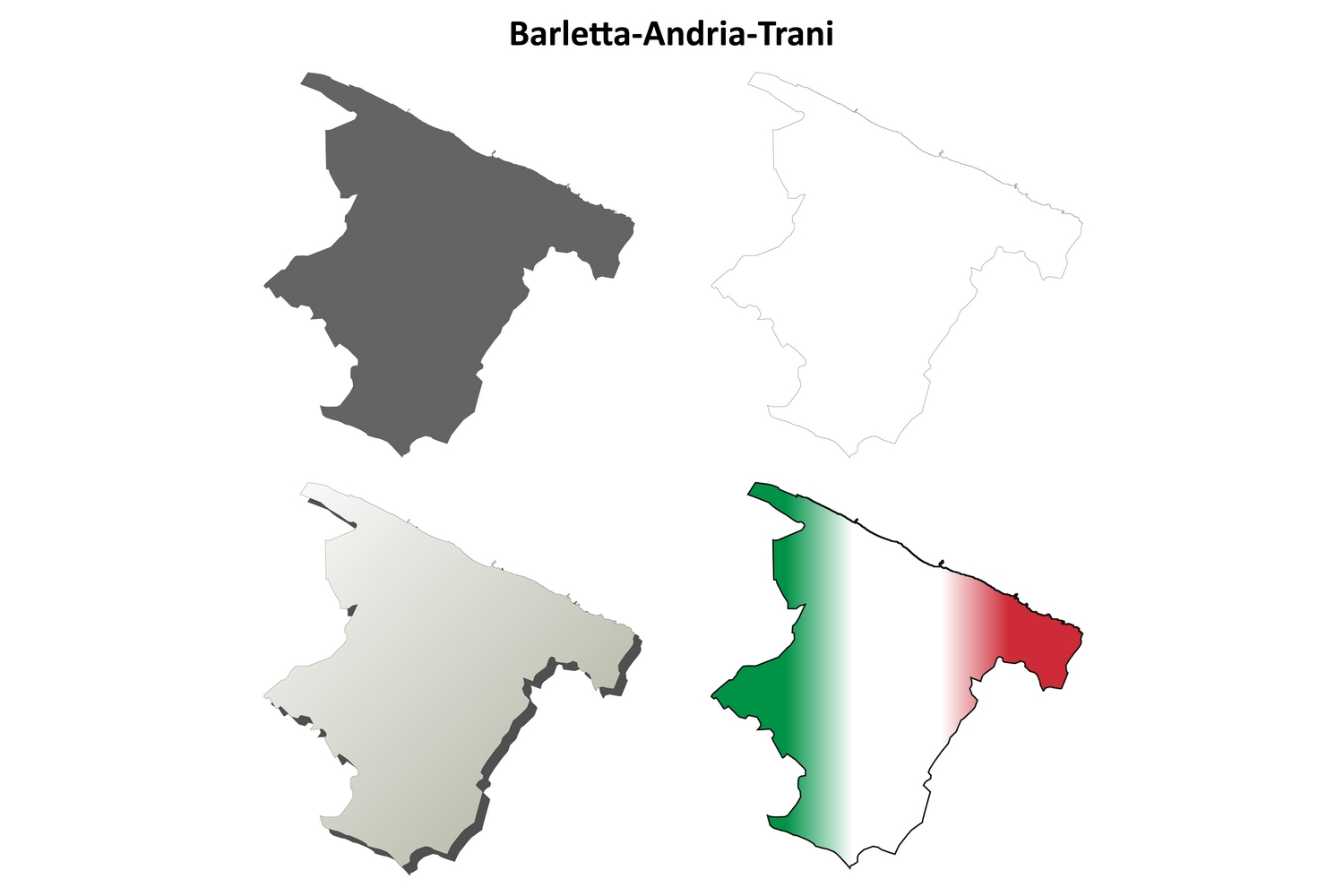 Download Free Barletta Andria Trani Outline Map Set Graphic By Davidzydd Creative Fabrica for Cricut Explore, Silhouette and other cutting machines.