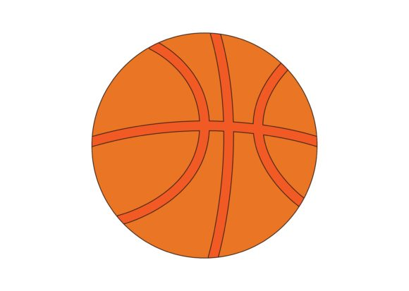 Download Free Basketball Ball Graphic By Studioisamu Creative Fabrica for Cricut Explore, Silhouette and other cutting machines.