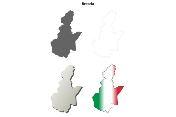 Download Free Brescia Outline Map Set Graphic By Davidzydd Creative Fabrica for Cricut Explore, Silhouette and other cutting machines.