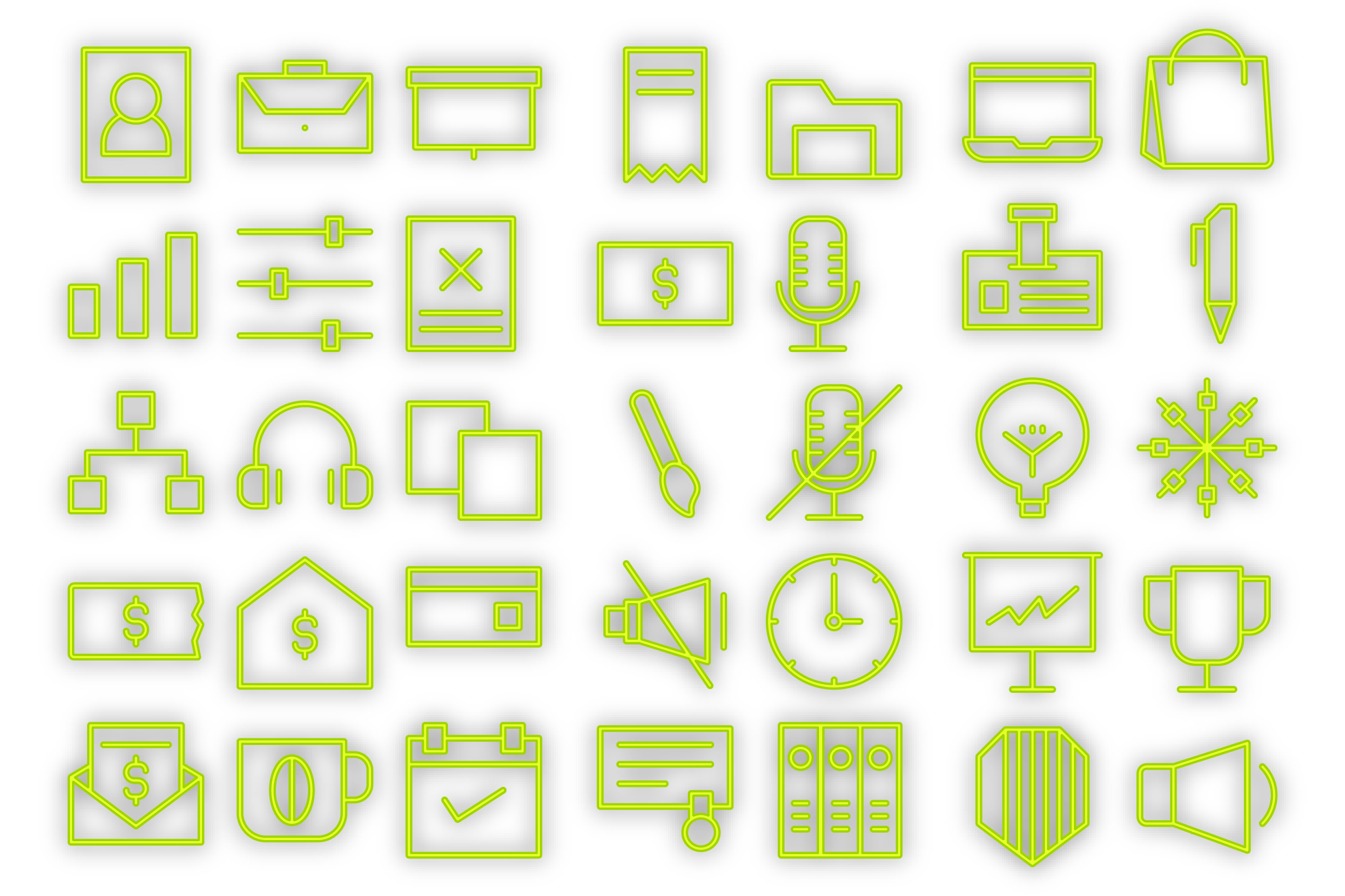 Download Free Business Icons It Graphic By Designvector10 Creative Fabrica for Cricut Explore, Silhouette and other cutting machines.