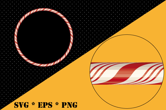 Download Free Christmas Candy Cane Frame Background Graphic By Graphicsfarm for Cricut Explore, Silhouette and other cutting machines.