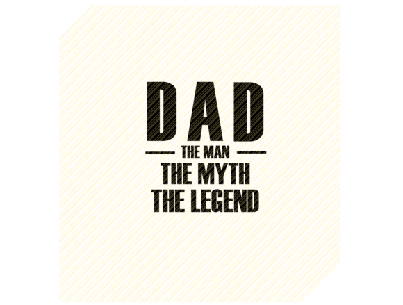 Download Free Dad The Man The Myth The Legend Graphic Graphic By for Cricut Explore, Silhouette and other cutting machines.