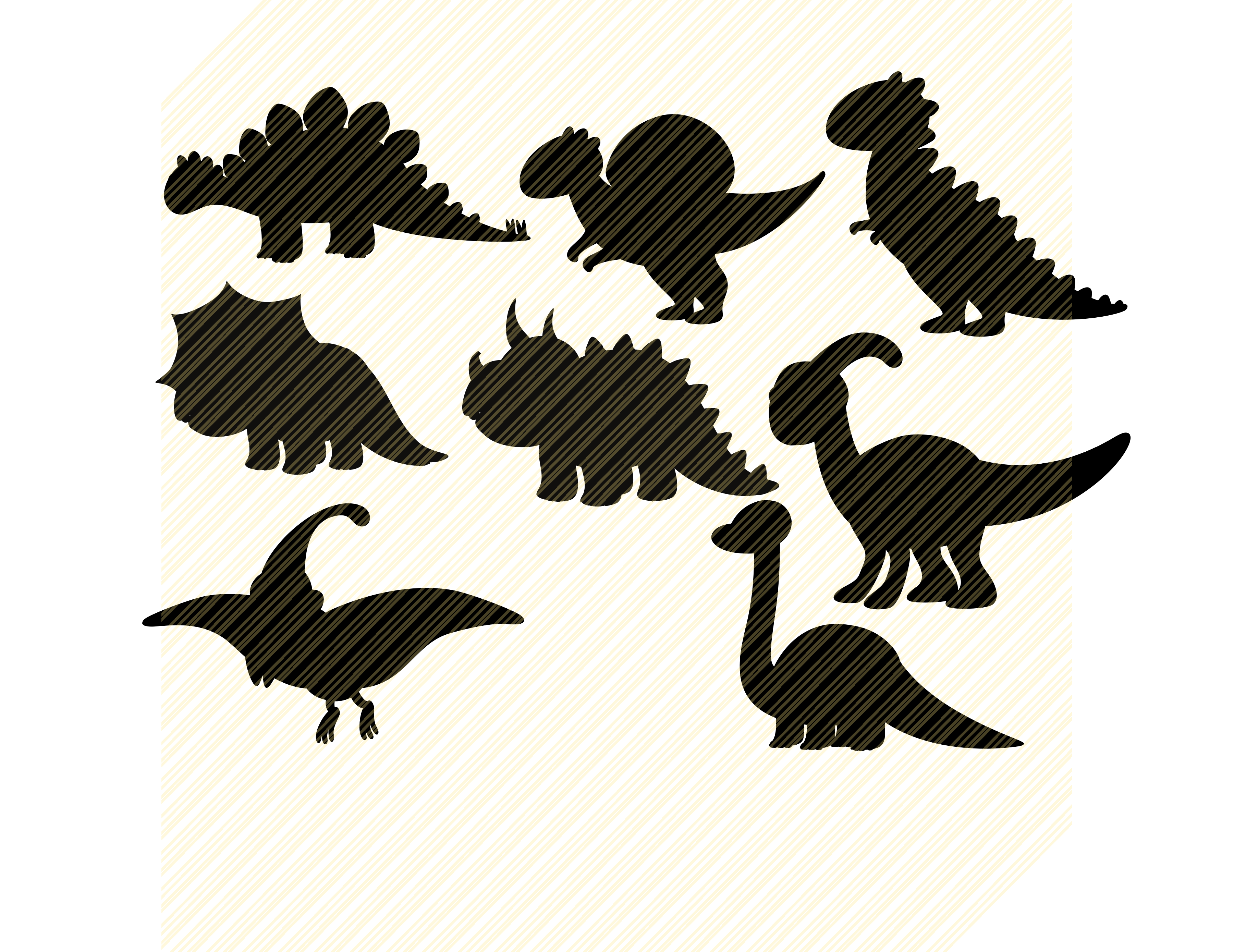 Download Free Dinosaur Silhouette Baby Graphic Graphic By Svgplacedesign for Cricut Explore, Silhouette and other cutting machines.
