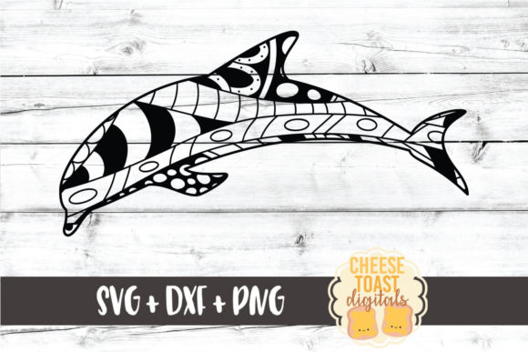 Download Free Dolphin Zentangle Graphic By Cheesetoastdigitals Creative Fabrica for Cricut Explore, Silhouette and other cutting machines.