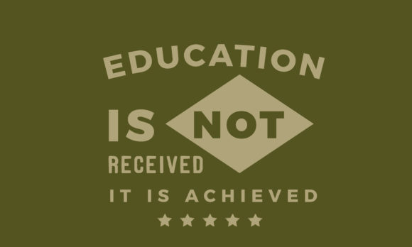 Education Is Not Received Graphic By Baraeiji Creative Fabrica