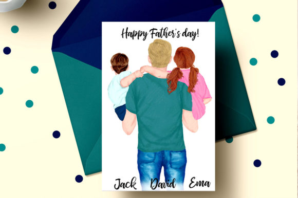 Father and Children Clipart Graphic Illustrations By LeCoqDesign - Image 4